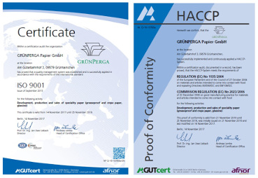 ISO9001 and HACCP